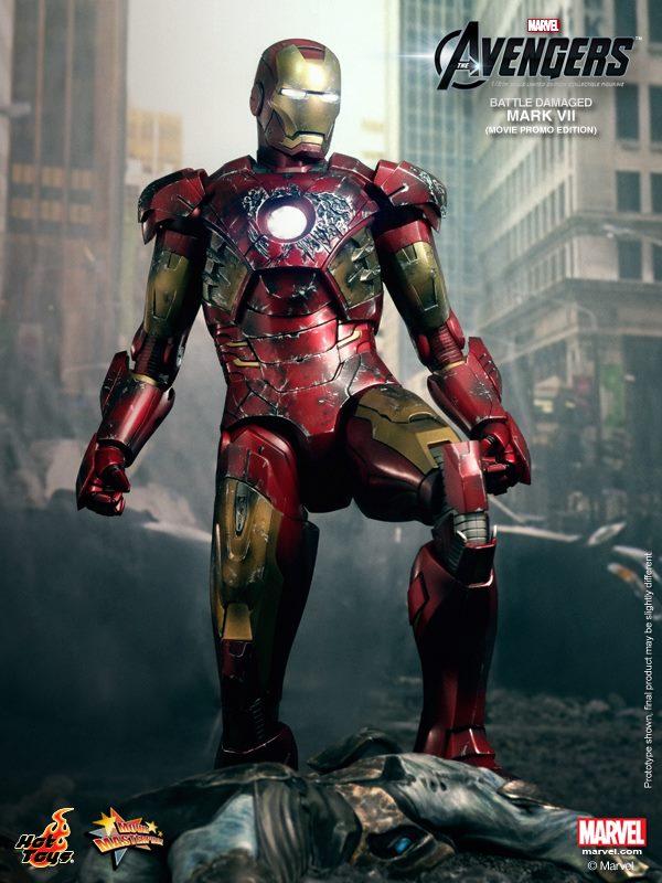 hot toys iron man mark VII damaged 7