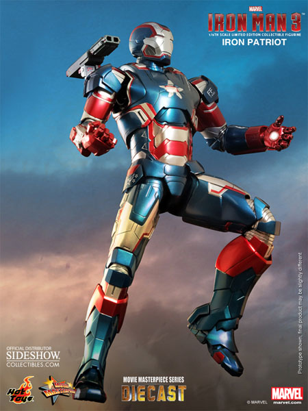 "Hot Toys Die-Cast MMS Iron Patriot (12"")"