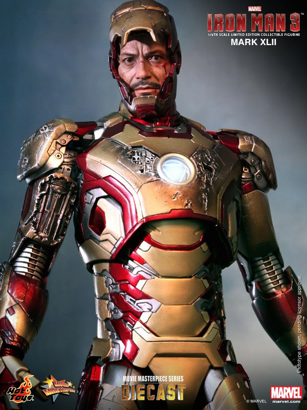 iron man hot toys mk xlii 9