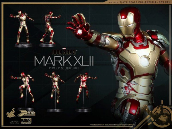 "Hot Toys Power Pose Series Iron Man Mk42 (12"")"