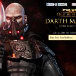 Star Wars : Sideshow tease son Darth Malgus (30cm)