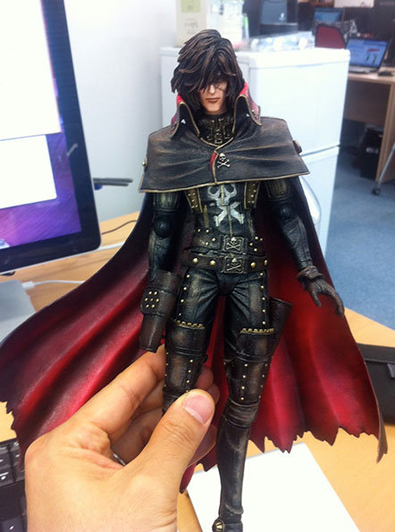 Play Arts Kai Captain Harlock squar enix 2013