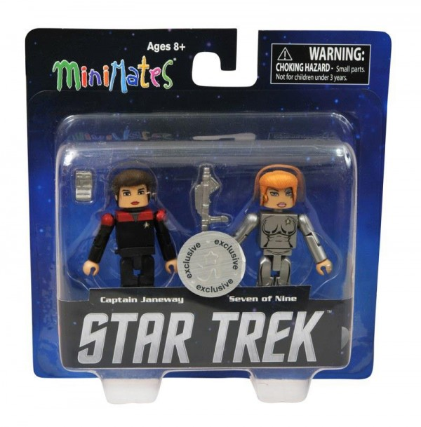 dst minimates star trek Janeway and 7 of 9 (Voyager) Toys R Us Exclusive