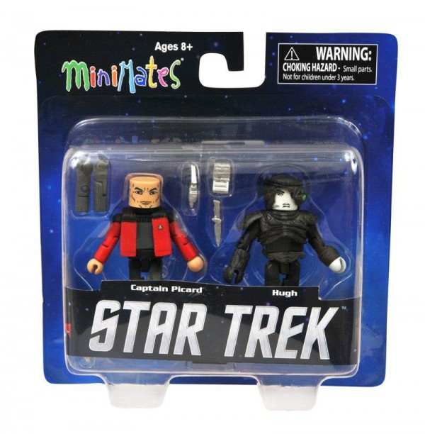 dst minimates star trek Picard and Hugh (Next Generation) Toys R Us Exclusive