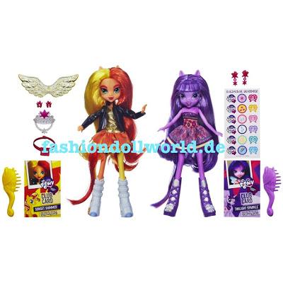 My Little Pony les poupées Equestria Twilight Sparkle et Sunset Shimmer