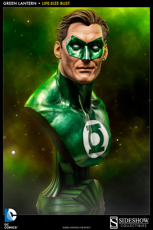 Green Lantern Life-Size Bust sideshow