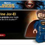 Superman Man of Steel : une figurine offerte chez LEGO
