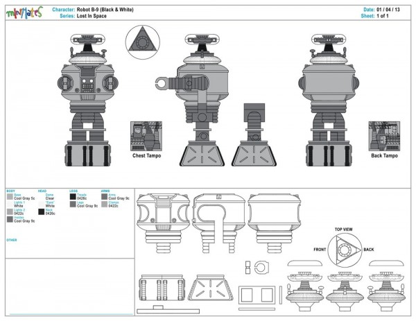 Lost In Space - Robot B-9 (Black & White)1