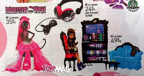 Monster High Vendredi 12 Catty Noir La redoute