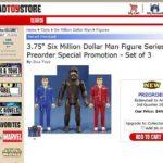 Ouverture de preco pour les retro vintage Six Million Dollar Man