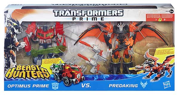 transformers Prime Best Hunter Optimus VS predaking (2)