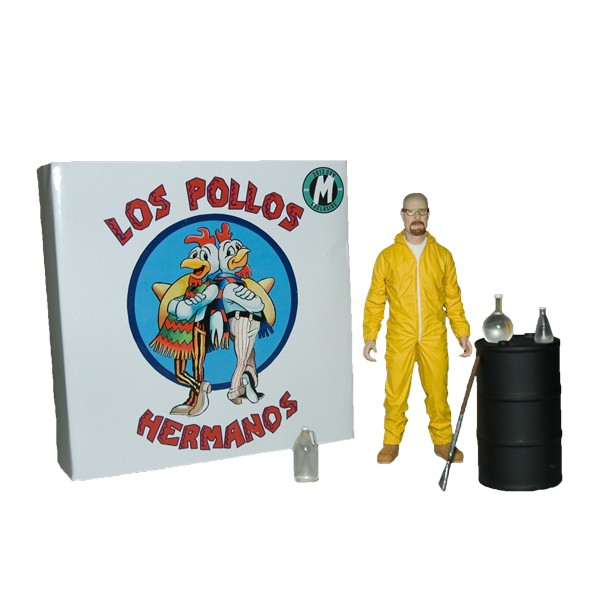 Deluxe Breaking Bad Walter White In Hazmat Suit  Mezco SDCC 2013