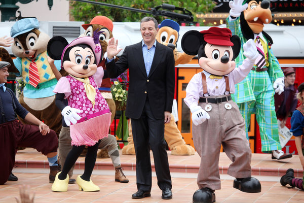 Robert A. Iger, Disney's chief executive, last year at the company's California Adventure park. He took over as the C.E.O. in 2005.