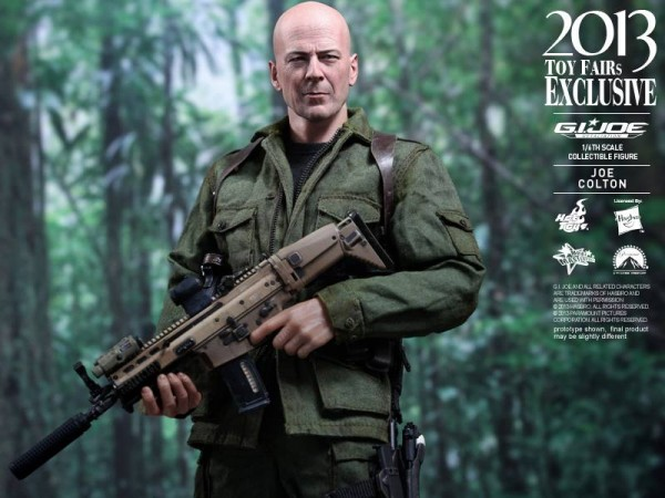 gijoe retaliation joe colton hot toys bruce willis 1