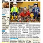 Une page sur les Playmobil vintage dans le Parisien