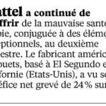Economie : -24% de bénéfice net en un an pour Mattel