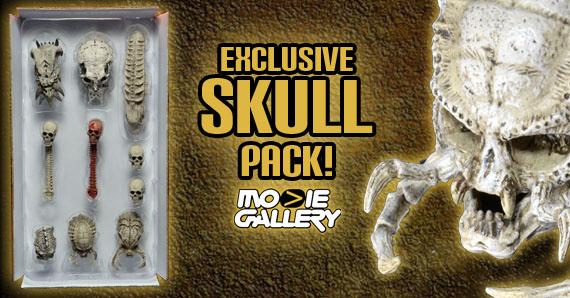 Trophy Skull Pack Predator  NECA