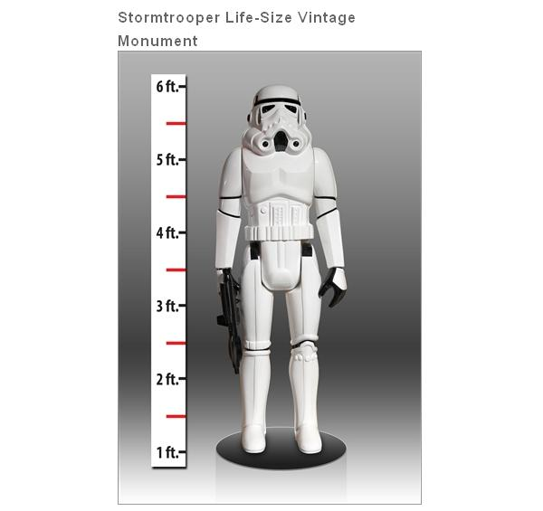 gentle giant star wars taille réelle stormtrooper vintage