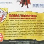 MOTUC : la bio des Horde Troopers en français