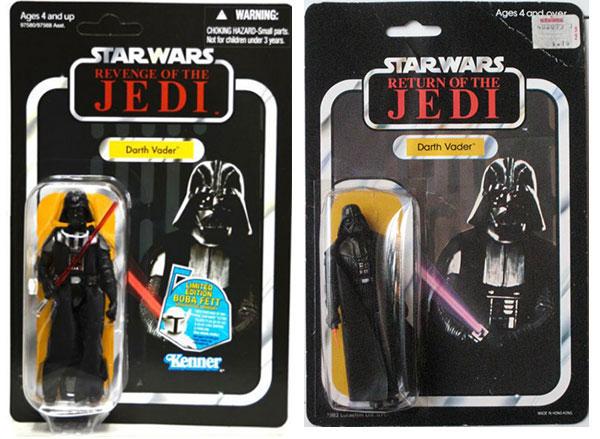à gauche la version TVC de 2010, à droite la version vintage