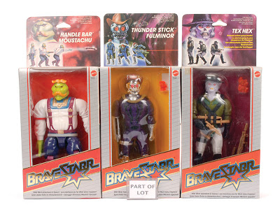 bravestarr Moustachu, Fulminor, Tex Hex