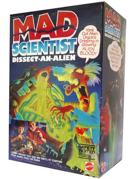 Dissect un alien Savant Fou  Mad Scientist Mattel 1986