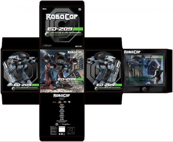 neca ed209 robocop packaging