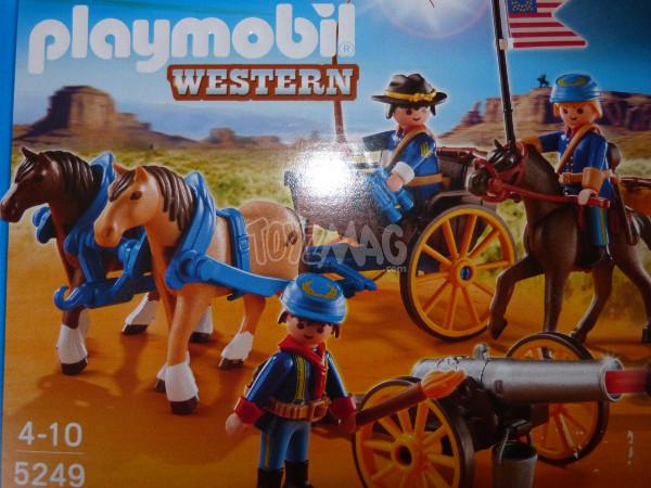 playmobil western canon soldats US cavalerie 2