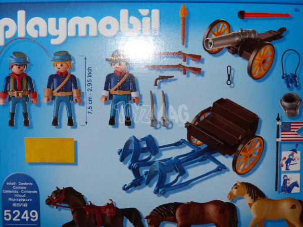 playmobil western canon soldats US cavalerie 3
