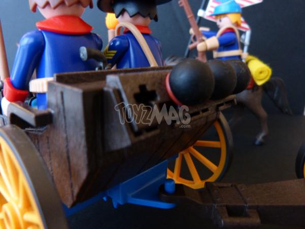 playmobil western canon soldats US cavalerie 5
