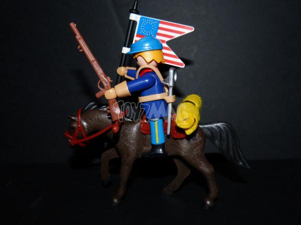 playmobil western canon soldats US cavalerie 6