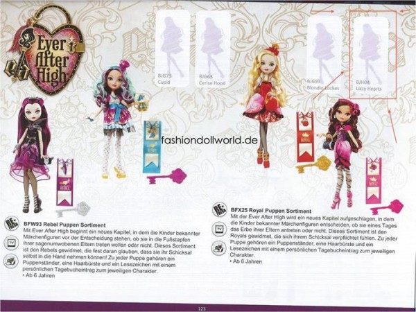 Ever After High lizzty Hearts
