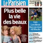 """Jouets & Actualités – Barbie et Ken en illustration d'une """"une"""" du Parisien"""