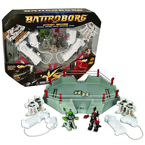 Promo-Coffret-2-robots-Battroborg-radiocommandes-avec-arene-de-combat-Scaldor-contre-Colonel-Clubber