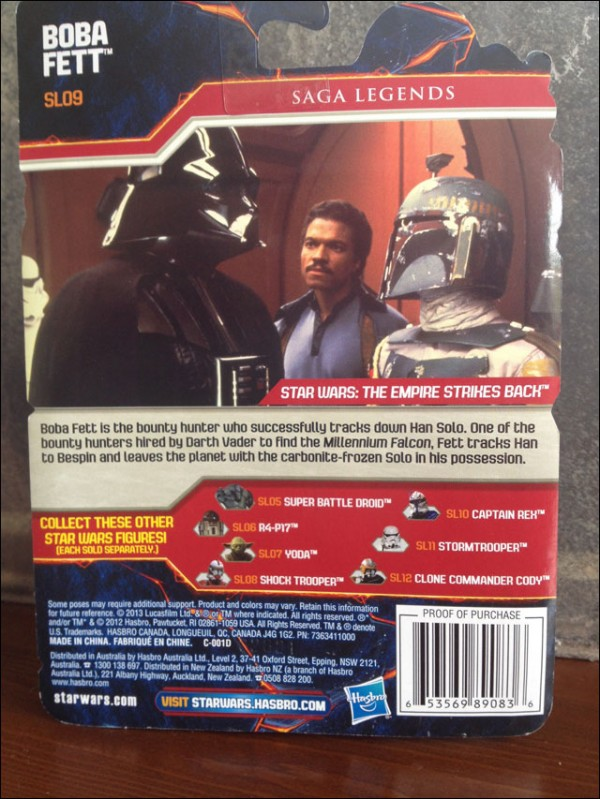 Saga legends boba fett packaging backcard