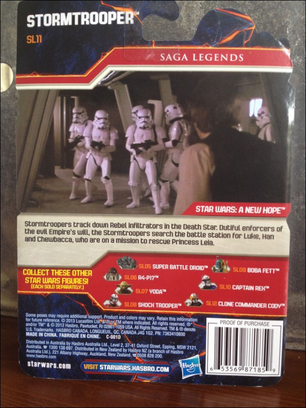 Saga legends stormtrooper packaging backcard