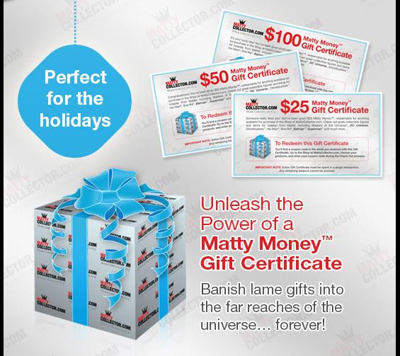 gift certificate matty