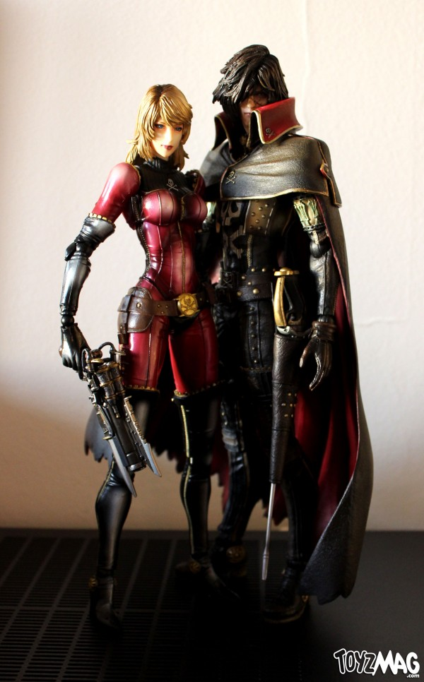 Harlock figurines Play arts Kai square Enix