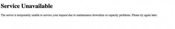 service unavailable mattycollector cybermonday