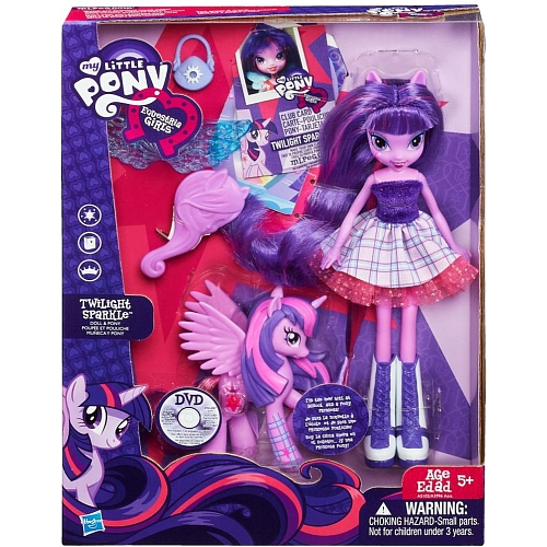 Poupée Equestria et Poney Twilight Sparkle