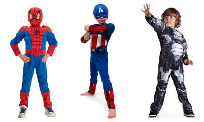 Deguisements marvel Spider-Man Captain America IronMan