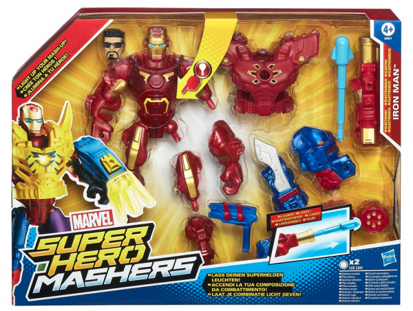 Marvel Super Hero Mashers Electronic Iron Man packaging