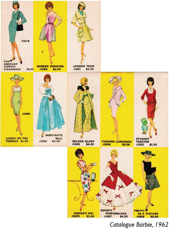 Catalogue Barbie 1962 - Barbie Rétro Chic Expo