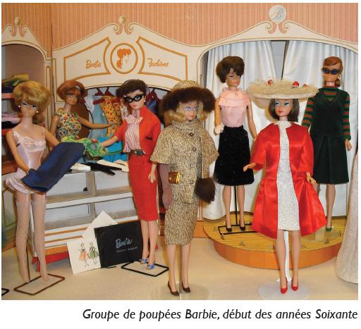 Groupe de poupée Barbie début des années 60 - Barbie Rétro Chic Expo