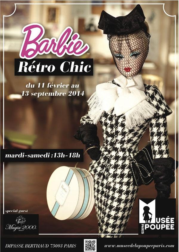 barbie retro chic expo affiche