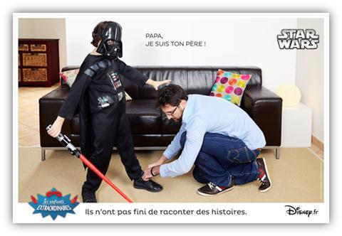 les enfants extraordinaires Disney Star Wars