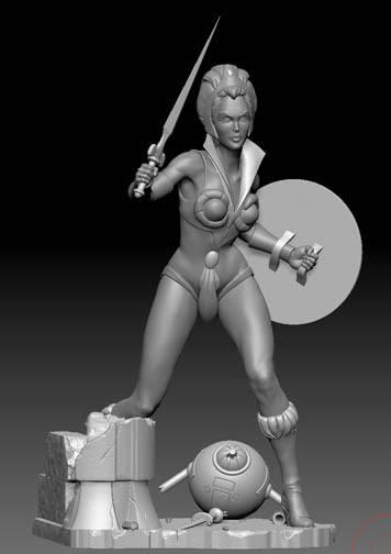 Teela statue Pop Culture Shock Collectibles, Inc!