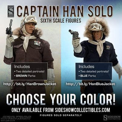 sideshow han solo hoth star wars