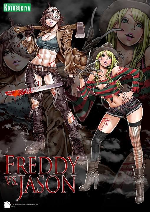 Bishoujo Illustrations: Freddy vs. Jason by Shunya Yamashita