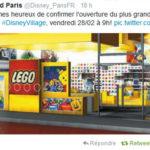 Le Legostore de Disney Village ouvre demain
